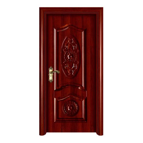 室內套裝門-YH122紅拼木深拉伸