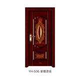 磨砂木紋門 -YH-506(紫檀燙金)