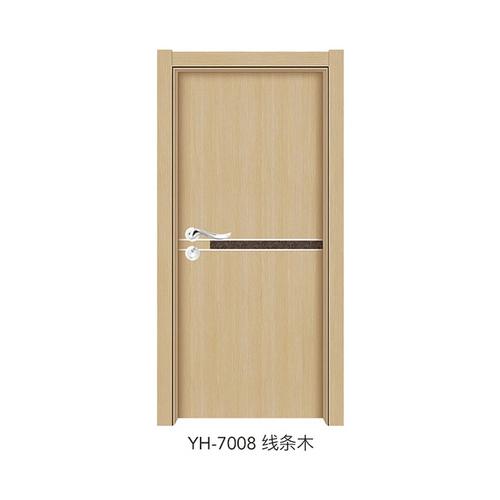 韓式拼接強化門-YH-7008(線條木)