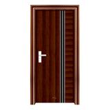 鋼木室內門 -YH-006黑拼木