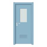 上擦式玻璃门 -YH-0001浅蓝