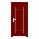 钢木室内门 -YH-079红拼木