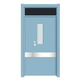 上擦式玻璃门 -YH-0005浅蓝