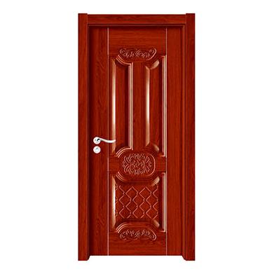 深拉伸聚脂木门-YH-6602红檀
