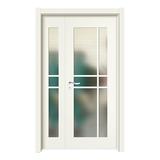 上擦式玻璃门 -YH-0006象牙白
