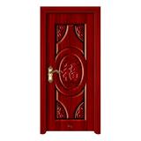 鋼木室內門 -YH-091紅拼木