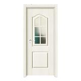 上擦式玻璃门 -YH-0002暖白浮雕