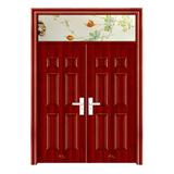 鋼木室內門 -YH-126紅拼木