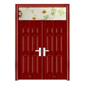 钢木室内门-YH-126红拼木