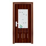 钢木室内门 -YH-125黑拼木