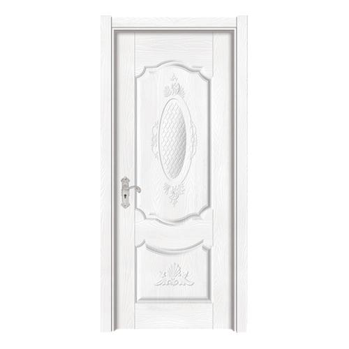 暖白浮雕门-Y-146暖白拉丝