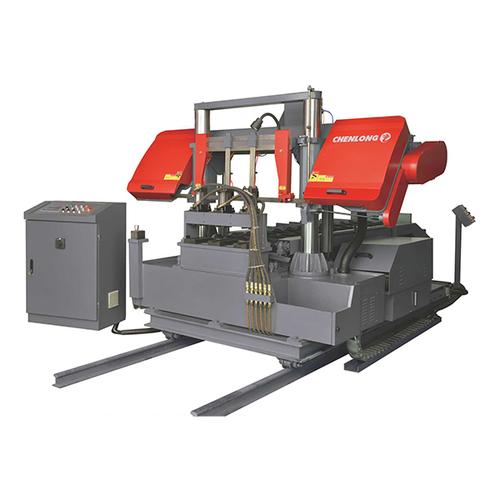专用锯切机床-铜棒在线切割机组