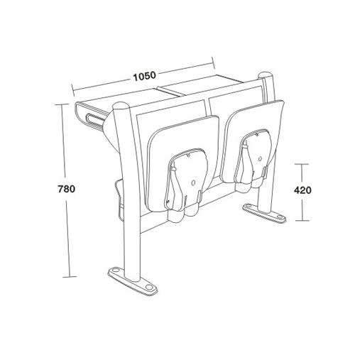 平面阶梯教学椅系列-FX-1145