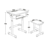 塑料包边面课桌椅 -FX-0097