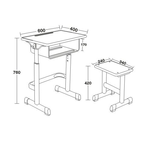 塑料包邊麵課桌椅-FX-0097