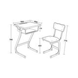 塑料包邊麵課桌椅 -FX-0136