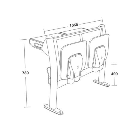 平麵階梯教學椅係列-FX-1125