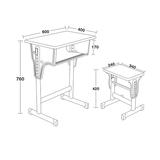 專利鐵皮包邊麵課桌椅 -FX-0096