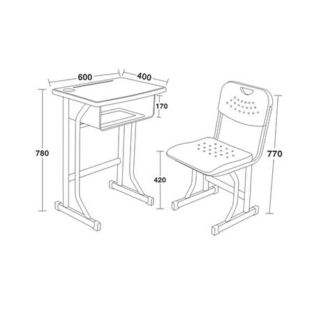 塑料新款课桌椅-FX-0285