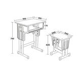 多层板面课桌椅 -FX-0078