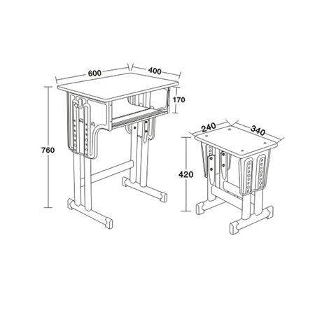 多层板面课桌椅-FX-0078
