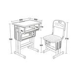 塑料包邊麵課桌椅 -FX-0099