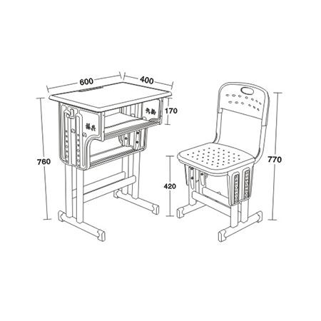 塑料包邊麵課桌椅-FX-0099