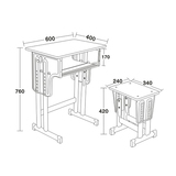 專利鐵皮包邊麵課桌椅 -FX-0116