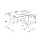 双人课桌椅 -FX-0248