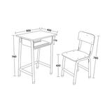 多层板面课桌椅 -FX-0098