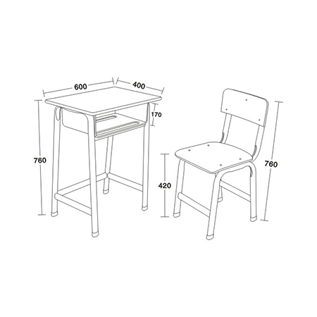 多層板麵課桌椅-FX-0098