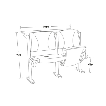 平麵階梯教學椅係列-FX-1150