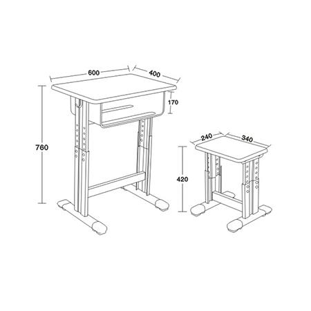 專利鐵皮包邊麵課桌椅-FX-0120