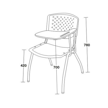 休闲培训椅系列-FX-3075