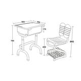塑料新款课桌椅 -FX-0380