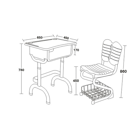塑料新款课桌椅-FX-0380