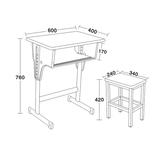 专利铁皮包边面课桌椅 -FX-0100