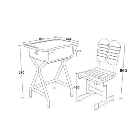 塑料新款課桌椅-FX-0265