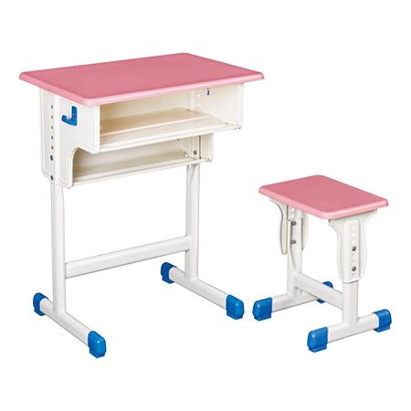 专利铁皮包边面课桌椅-FX-0119
