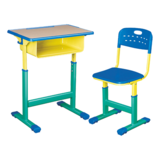 塑料包边面课桌椅 -FX-0161
