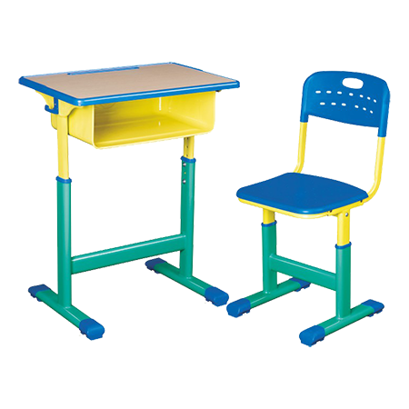 塑料包边面课桌椅-FX-0161