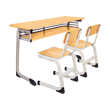 双人课桌椅-