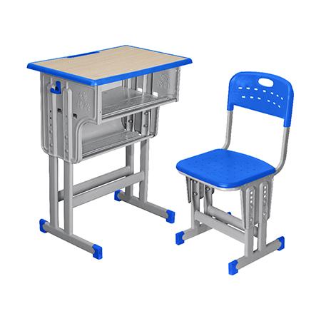 塑料包边面课桌椅-FX-0108