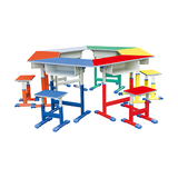 塑料包边面课桌椅 -FX-0780