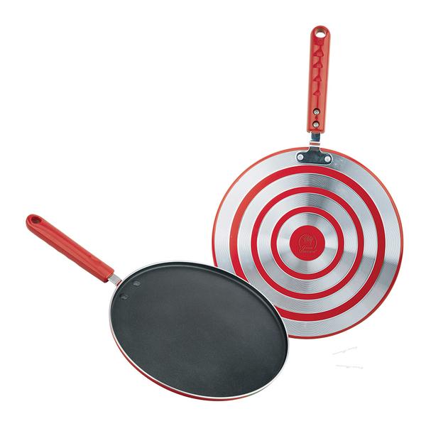 拉伸飞饼盘-aluminum tawa  red