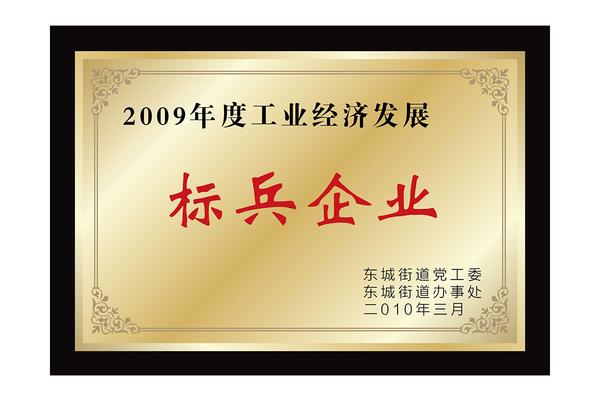 2009年度工业经济发展标兵企业