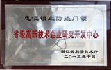 2013年省级高新技术企业研究开发中心