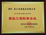 2012年度最佳工厂配套企业