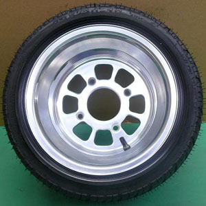 8 hole polish alloy wheel color wheelGZY-8H1080P&tyre 235/30-10