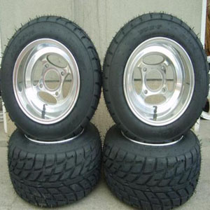 10x8 inch ATV wheel & tire 225/45-10 assembled togetherGZY-4H1080P & tyre 225/45-10